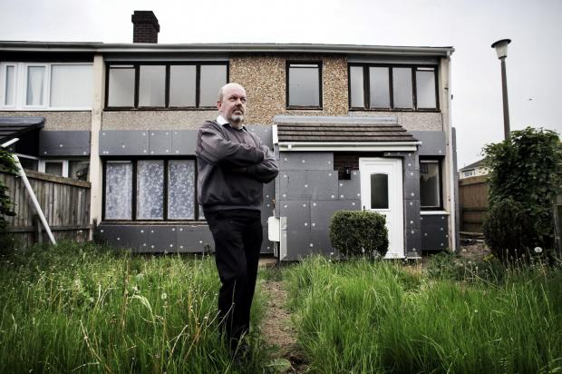 The Advertiser Series: UNFINISHED WORK: Michael Waite outside his house Colburn. Picture:Stuart Boulton.