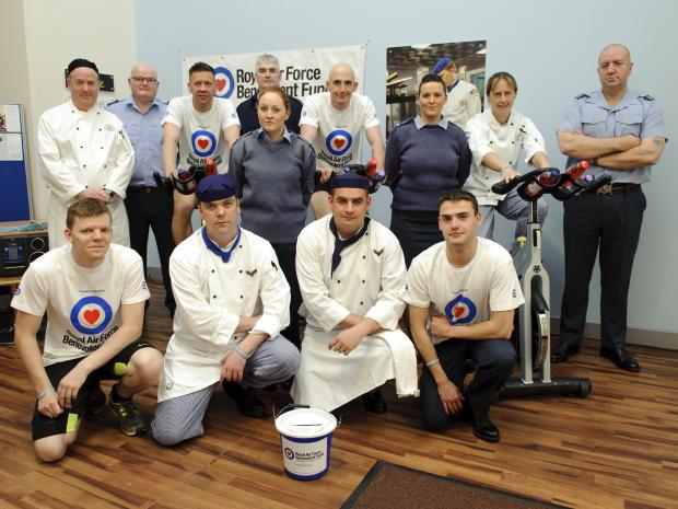 The Advertiser Series: SPIN CYCLE: RAF Leeming Catering Flight takes on a 24 hour spin-a-thon challenge in the name of charity.