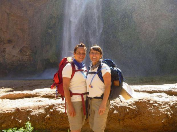 The Advertiser Series: SISTER ACT: Kerryann Stewart and her sister Joanne Patterson on a Grand Canyon fundraiser trek for Marie Curie Cancer Care