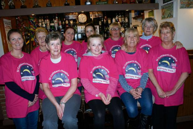 The Advertiser Series: Ladies from the Lambton Arms, Sherburn Village, who are taking part in St Cuthbert's Hospice's Midnight Walk (6681610)