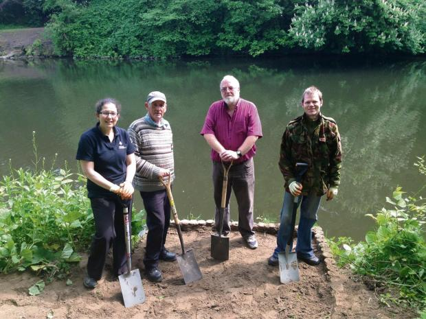 The Advertiser Series: Durham Cathedral's Woodlands and Riverbanks Project officer Gina Davies and volunteers (left to right) to right Eric Suddes , Richard Dennis and Owen Rowland  (6681585)