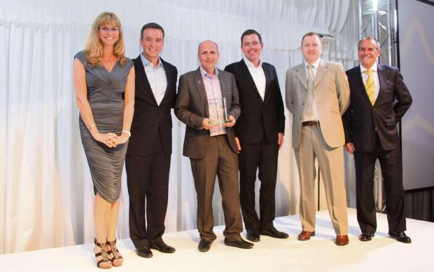The Advertiser Series: WINNING TEAM: Left to right: Louise Lautin, VP Channel Marketing (CA); Mike Crest, general manager (CA); Paul Anderson, operations director (ITPS); Chris Ross, VP Worldwide Sales (CA); Garry Sheriff, managing director (ITPS); Peter Ward, EMEA sales direct