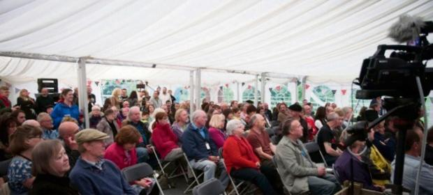 The Advertiser Series: Festival marquee: Crowds gather for the first Bamfest concert. Picture: Nikki Ramsay