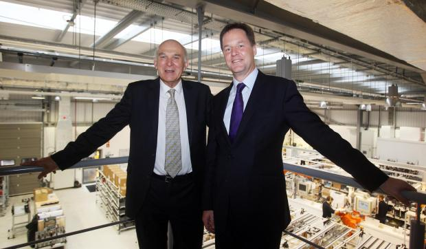The Advertiser Series: REGIONAL INVESTMENT: Deputy Prime Minsiter Nick Clegg and Business Secretary Dr Vince Cable have visited Rolls-Royce's £100m Washington plant to unveil £45m development plans