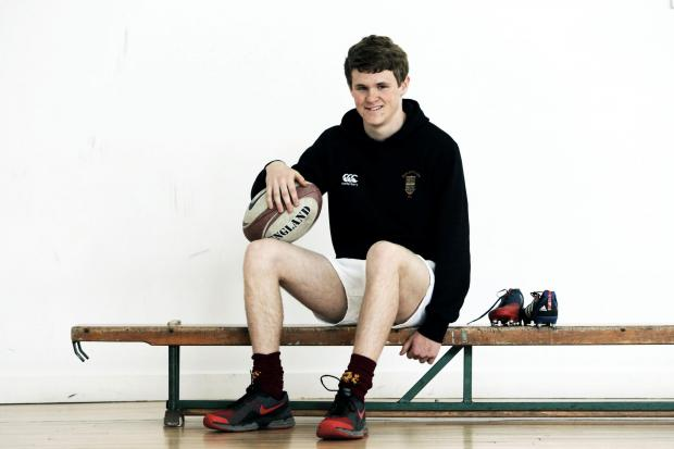 The Advertiser Series: SPORTING ACHIEVEMENT: 15-year-James Souter who is celebrating a successful rugby season      PICTURE: