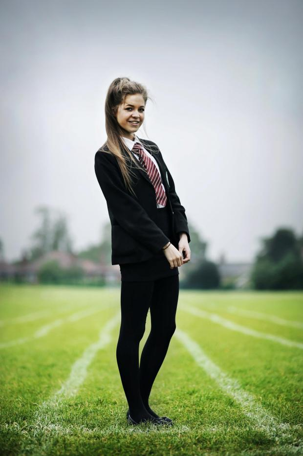 The Advertiser Series: NORTH-EAST CHAMPION: 13-year-old 800m runner Lucy-Erin Hunter       PICTURE: Stuart Boulton