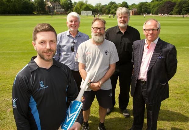 The Advertiser Series: BOWLED OVER: Pictured from left to right are Mel O'Connor, Vega V's Ray Rutter, Graeme Fowler, Professor Andrew Stockman and Norman Peterson