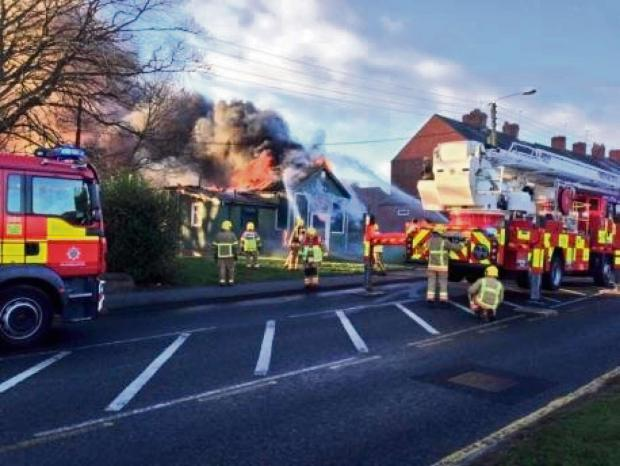 The Advertiser Series: DEVASTATING BLAZE: Fire ravages St John's Church Hall, Meadowfield