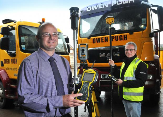 The Advertiser Series: NEW INVESTMENT: Martin Forster, general manager, left, and Andy Snowdon, site supervisor, show off the new survey equipment