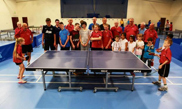 The Advertiser Series: GROWING SPORT: A table tennis academy set up a year ago has grown so big that it has moved premises to accommodate more members to King's Church, Whessoe Road. Picture SARAH CALDECOTT