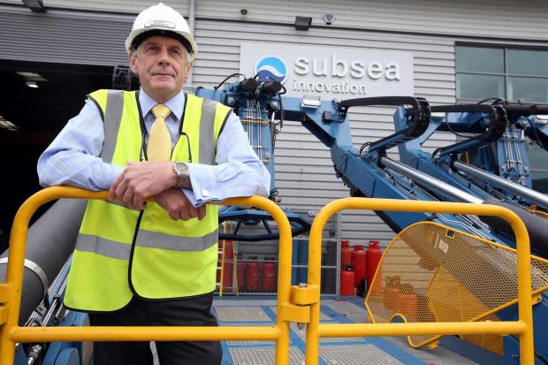 The Advertiser Series: CONTRACT DELIGHT: Martin Moon, Subsea Innovation's managing director, pictured on a launch and recovery system at its existing factory