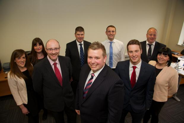 The Advertiser Series: NEW MOVE: Pictured from left to right are Michelle Bond, Olga Lee, Andrew Hodgson, Andrew Johnston, James Sloan, Mark Sleaford, Neil Dracup and Rachel Chambers, with Andrew Chambers, managing director, front centre