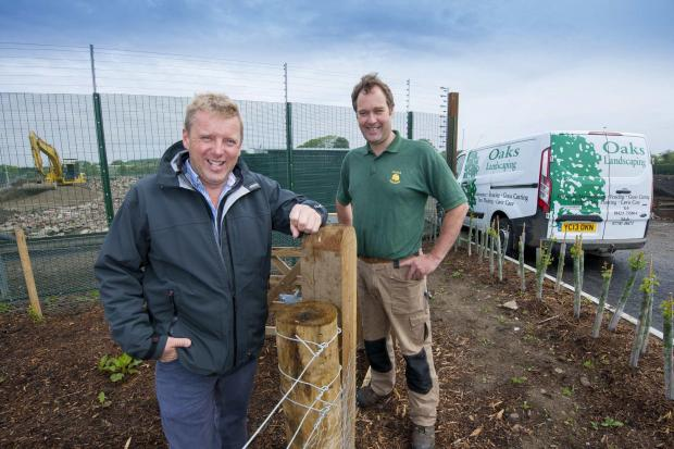 The Advertiser Series: BUSINESS DEAL: Jonathan Lupton, operations director, Econ Engineering and Andrew Spedding, Oaks Landscaping.