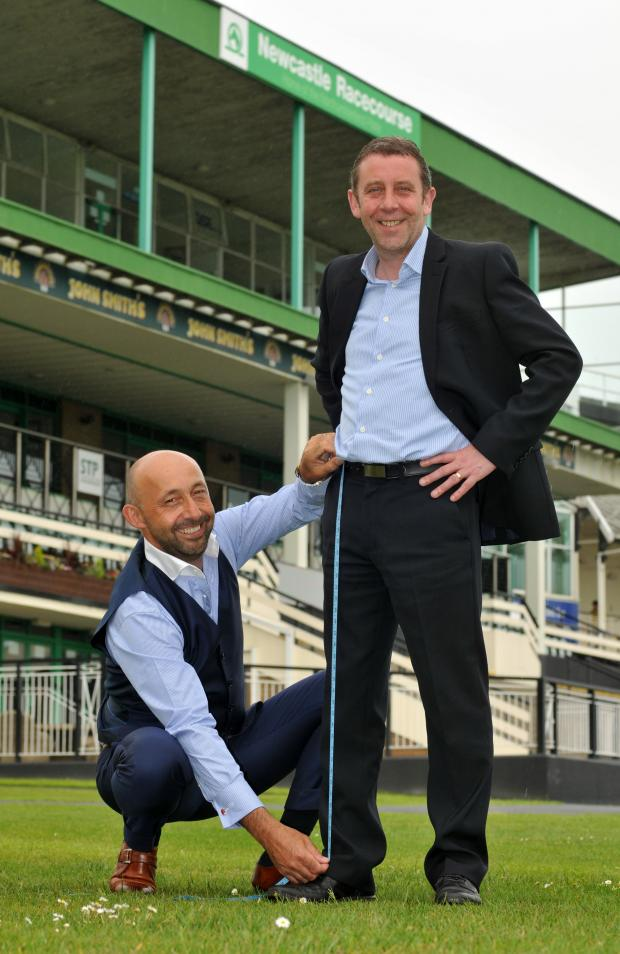The Advertiser Series: MEASURING UP: Julian Blades, left, with David Williamson, Newcastle Racecourse executive director