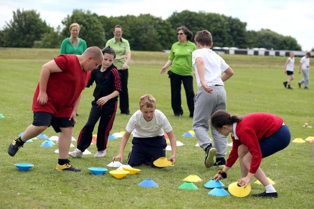 The Advertiser Series: STAYING ACTIVE: An Asda Active sports Day takes place at Longfield Sports Academy with activities put on for children from Northwood P