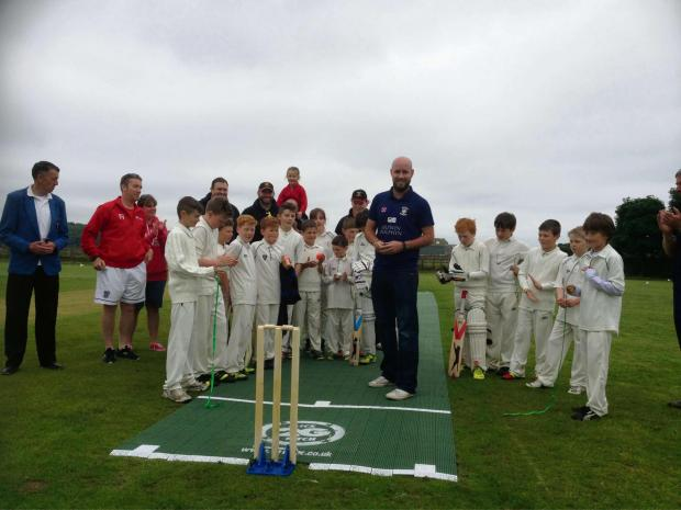 The Advertiser Series: Durham bowler Chris Rushworth performs the honours and opens Littletown CC's new pitch