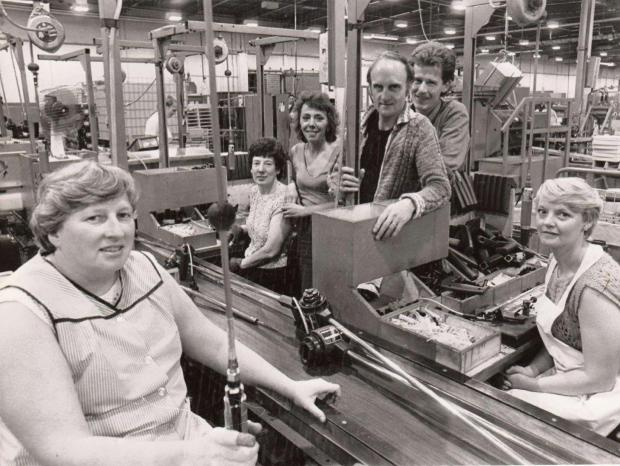 The Advertiser Series: OLD TIMES: Staff at the former Black and Decker plant, in Spennymoor, County Durham