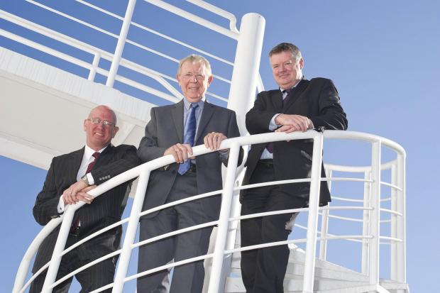 The Advertiser Series: Left to right: Gordon Pattie of Effective Transport Solutions, Councillor Harry Trueman, Deputy Leader, Sunderland City Council and Steve Hunter, managing director, Tadea-UK.