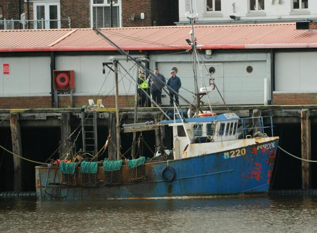 The Advertiser Series: DOUBLE TRAEGDY: The Eschol, in Whitby harbour, following the deaths of fishermen Edward Ide and Mark Arries