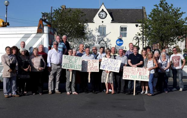 The Advertiser Series: RESIDENTS PROTEST: Residents campaign against greenfield development in Ferryhill.