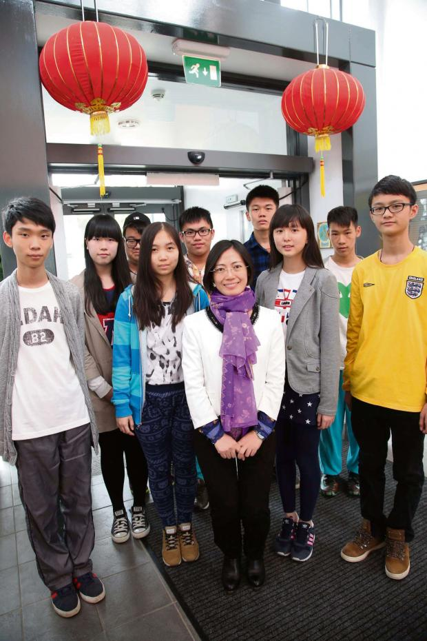 The Advertiser Series: CHINESE VISITORS: Pupils from China who are visiting Hummersknott Academy   Picture: ANDY LAMB