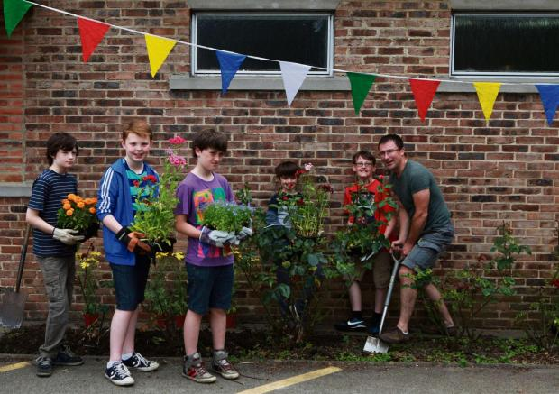 The Advertiser Series: BIG CLEAN: A community comes together for big spring clean, decoration at St Augustine's Parish Centre. Picture: SARAH CALDECOTT