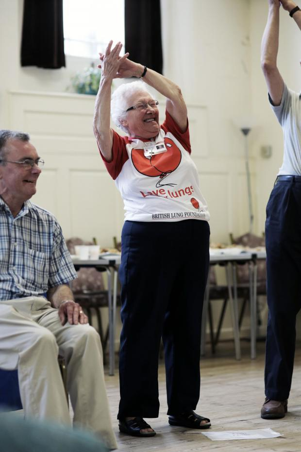 The Advertiser Series: AIROBICS: The Darlington Breathe Easy group exercise at the town's Friends Meeting House. PICTURE: Stuart Boulton