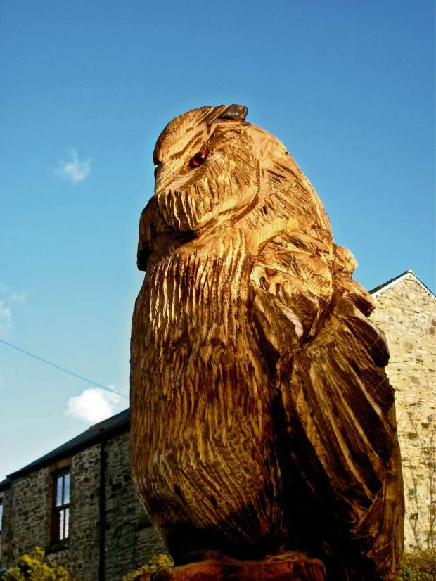 The Advertiser Series: Lee Hoskins' wood sculpture, which has been stolen from Esh Village