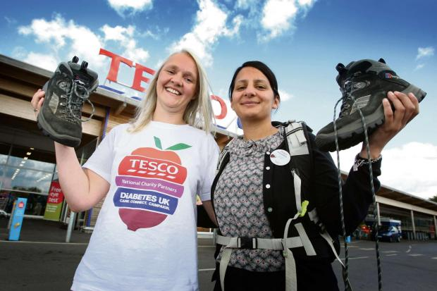 The Advertiser Series: CHARITY TREK: Donna Goldsbrough and Amandeep Uppal, who both work for Tesco, are preparing to go on a charity trek Pictu