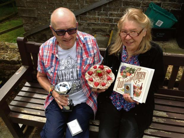 The Advertiser Series: CAKE WINNERS: Ian Reedman and Elaine Stoner celebrate their success at the Cowshill Cake, Pie and Pudding Festival