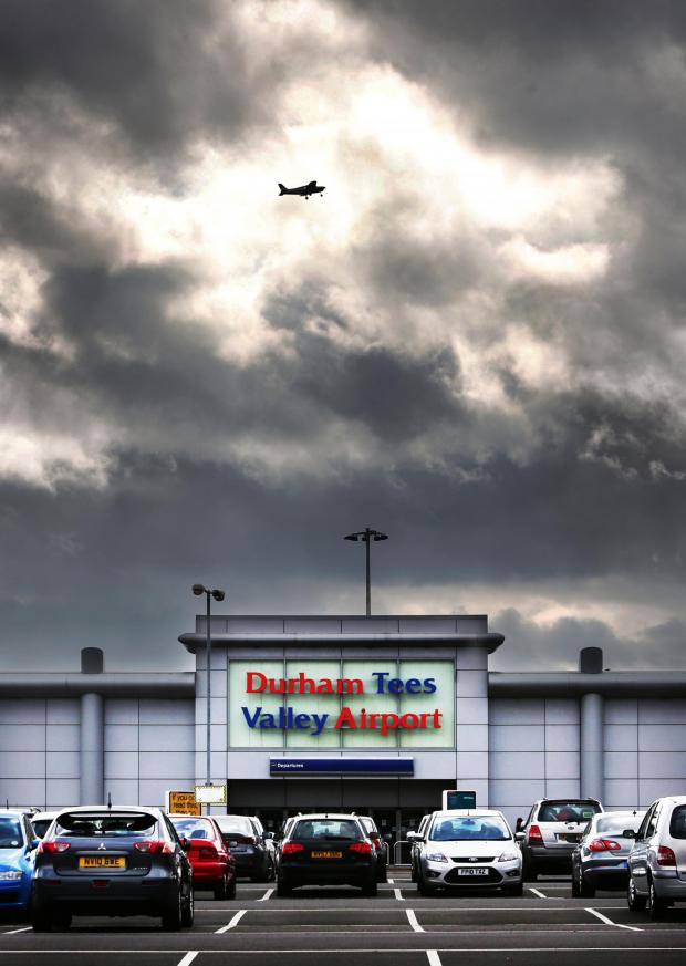 The Advertiser Series: AVIATION BASE: A plane flies over Durham Tees Valley Airport