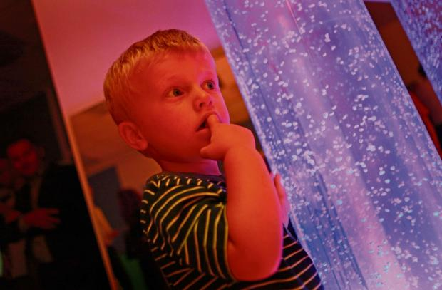 The Advertiser Series: SENSORY DELIGHT: Harry Luther, two, enjoys a new £130,000 sensory room in Spennymoor.