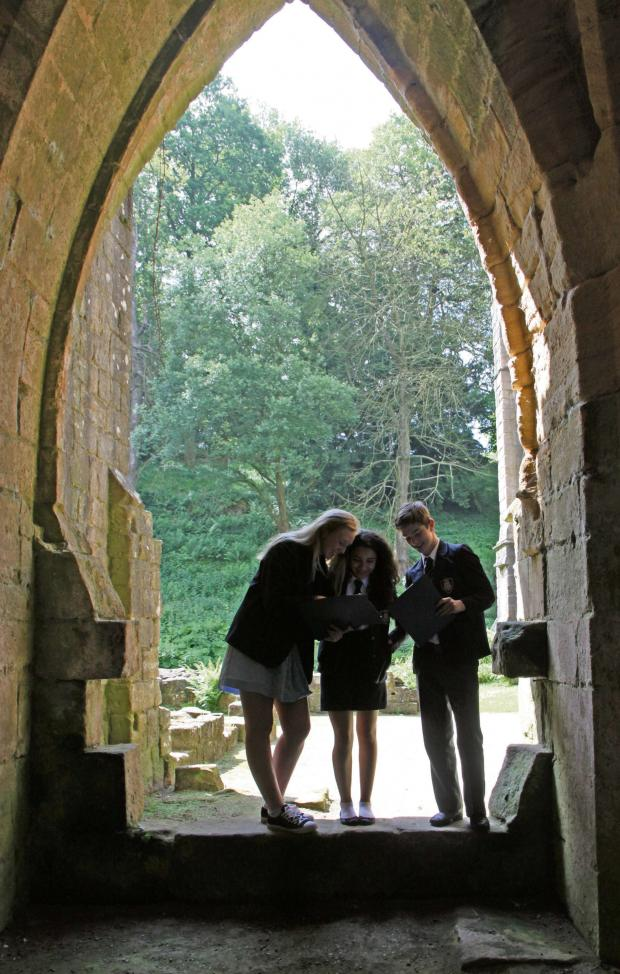 The Advertiser Series: ABBEY PROJECT: Caitlin Johnson, Farnaaz Ghazaani and Ryan Johnson are inspired by the ruins of Fountains Abbey .