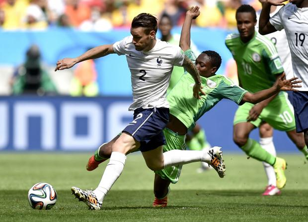 The Advertiser Series: On his way: Newcastle's Mathieu Debuchy faced Nigeria in the World Cup last-16 but he is the subject of Arsenal interest