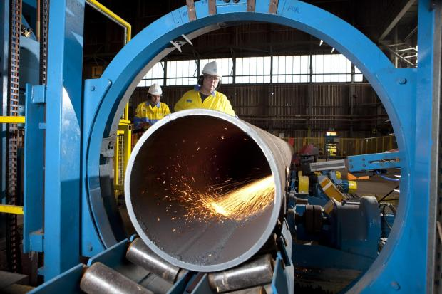 The Advertiser Series: JOB ANNOUNCEMENT: Workers pictured at Tata Steel's Hartlepool pipe mill. The company says job cuts in Wales will not affect its plants in the region