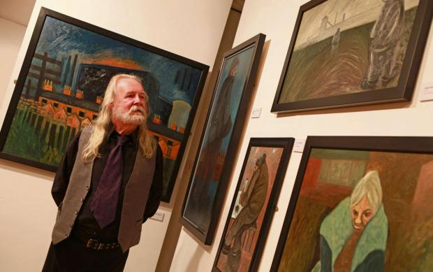 The Advertiser Series: ART EXHIBITION: Artist David Watson opens his new exhibition at Bishop Auckland Town Hall. Picture SARAH CALDECOTT