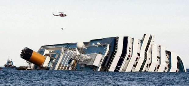 The Advertiser Series: MAJOR DISASTER: The Costa Concordia, pictured just hours after it ran aground off the island of Giglio, Italy, in January 2012