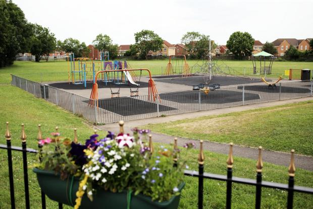 The Advertiser Series: DEVELOPEMENT PLANS: The play area and field at Middleton St. George. Picture: STUART BOULTON