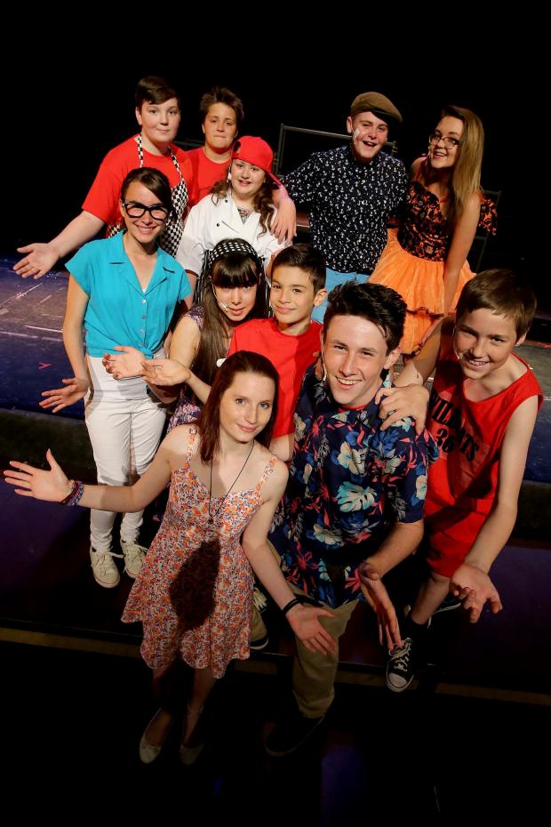 The Advertiser Series: : Students Sam Fagan, Madeleine Pritchard, Rebecca Young, Gabrielle Smith, Jordan Stephen, Ethan Parker, Tommy Higgins, Harvey Hall, Emily Bainbridge, Travis Ross and Lucy Sefton from Belmont Community School take part in a dress rehearsal ahead of their