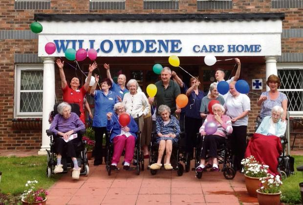 The Advertiser Series: BALLOON RELEASE: Staff, residents and relatives release balloons with personal messages as part of National Care Home Open Day