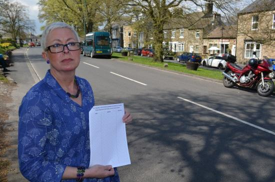 The Advertiser Series: PARKING RESTRICTIONS: Diane Spark, who ran one of the petitions against introducing parking restrictions in Middleton-in-Teesdale.