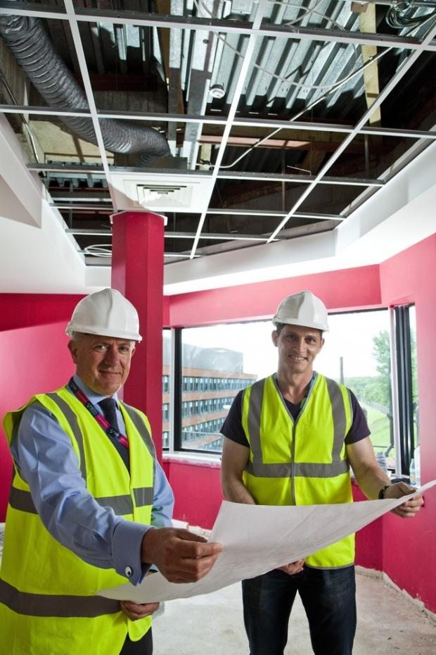 The Advertiser Series: EXCITING PLANS: Andrew Walters, Wilton Centre's engineering manager, with Nick Smith, managing director of Health Performance