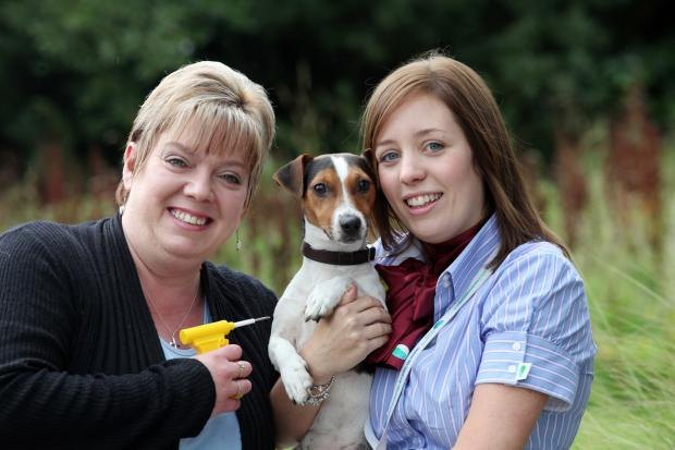 The Advertiser Series: ADVICE DAY: Donna Walker (left) and Jessica Wray, Community Involvement and Investment Officers at Derwentside Homes at another successful dog chipping event in the district.