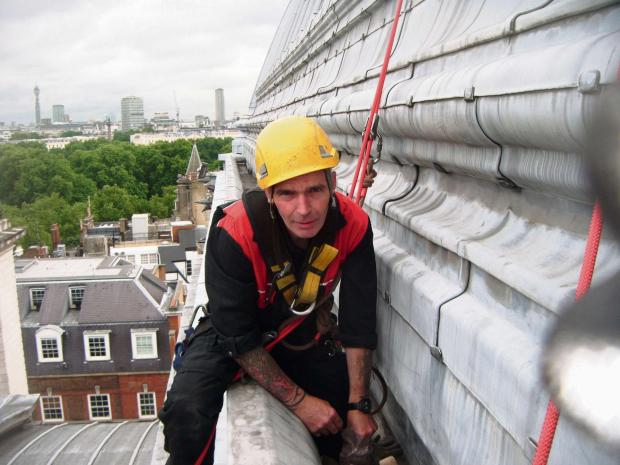 The Advertiser Series: CAPITAL PROJECT: Paul Tinkler, of Stone Technical Services, works on Westminster Central Hall