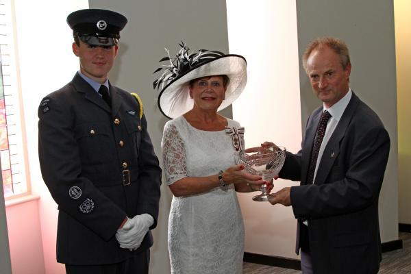 The Advertiser Series: QUEEN'S AWARD: Lord Lieutenant Sue Snowdon presents Steve Jenkins from Ikon GeoPressure with the Queen