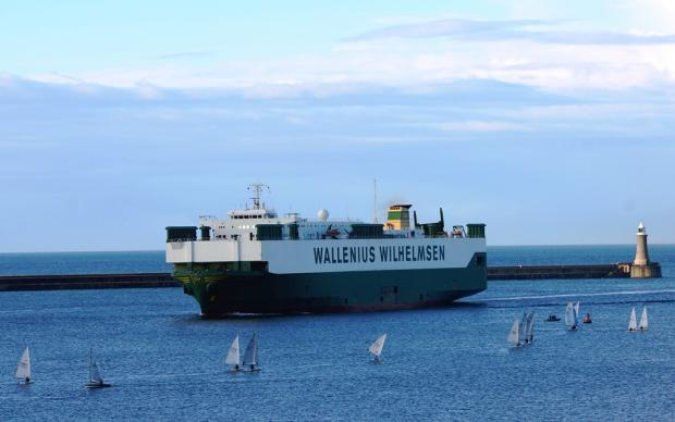 The Advertiser Series: MAJOR VISITOR: The Port of Tyne welcomes the Wallenius Wilhelmsen Logistics vessel