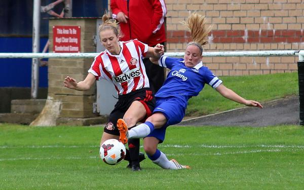 The Advertiser Series: BASS BOOST: Sunderland's Rebekah Bass in action against Everton
