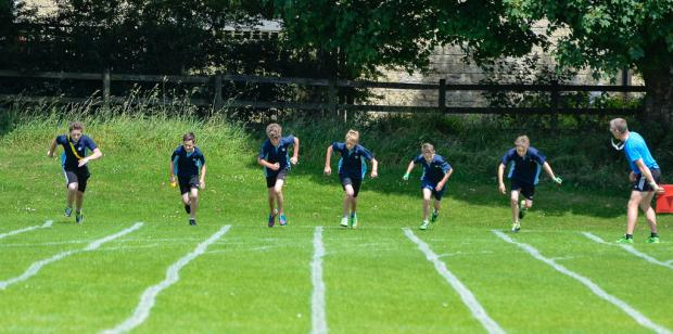 The Advertiser Series: RUNNING FOR GOLD: From left, Will Tiplady, Alex Karadizc, Ed Harker, Tom Partridge, James Orton and Scott Lambert contest the year 8 100m.