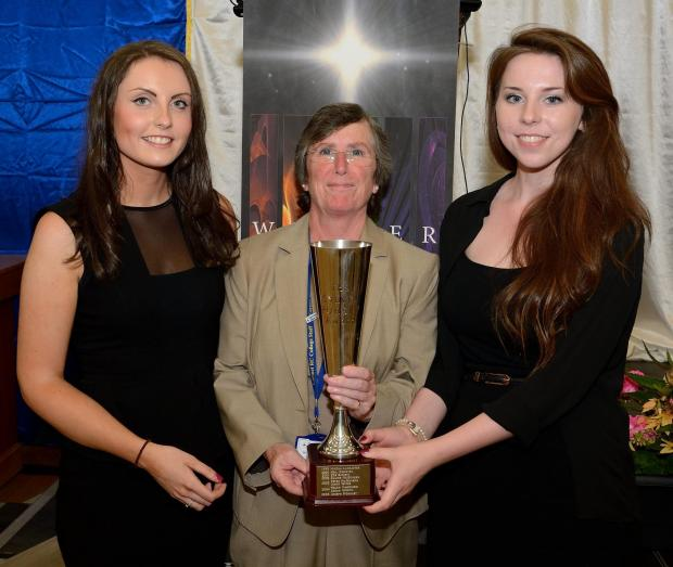 The Advertiser Series: PRIZE-GIVING: Carmel College principal Maura Regan (centre) with joint winners of t