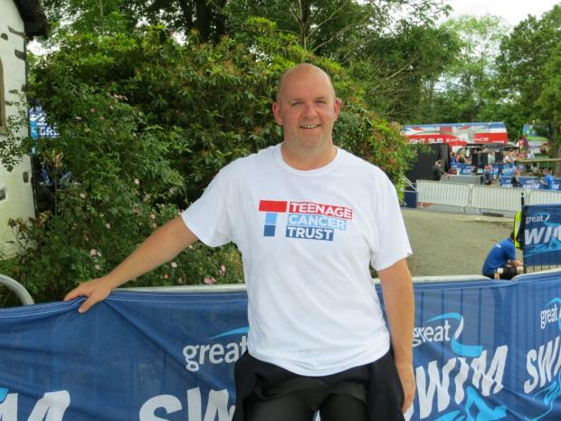 The Advertiser Series: CHARITY SWIM: Teacher Paul Simpson who has completed the Great Nort